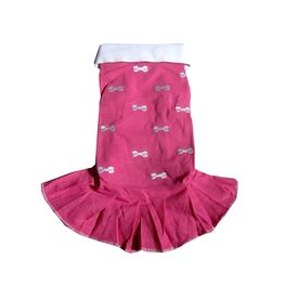 Zorba Designer Embroidery Frock for Toy Dogs, pink, 10 inch
