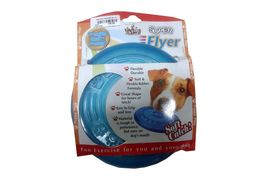 Super Flyer Flexible Puppy Dog Frisbee, blue, 6 inch