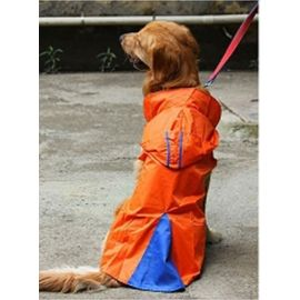 Canes Venatici Double Protection Polyester Raincoat for Large Dogs, red, 26 inch