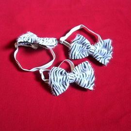 Puppy Love Zebra Tie with Reflective Band for Toy and Small Breed Dogs, assorted