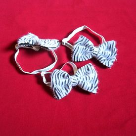 Puppy Love Zebra Tie with Reflective Band for Toy & Small Breed Dogs, assorted