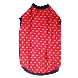 Rays Woollen Warm Sweater for Large Dogs, 28 inch, red polka dots
