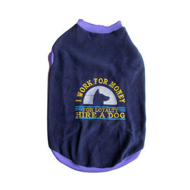 Rays Fleece Warm Embroidery Loyalty Tshirt for Small Dogs, 18 inch, navy