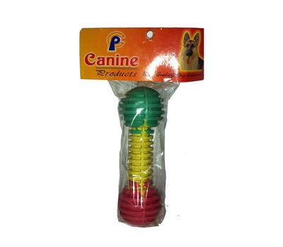 Canine Nylon Latex Dumbbell Shaped Dog Toy, multicolor