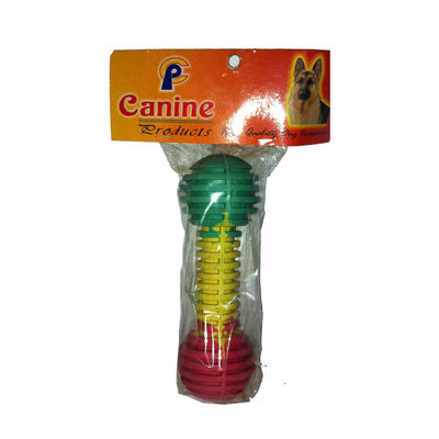 Canine Nylon Latex Dumbbell Shaped Dog Toy, multicolor
