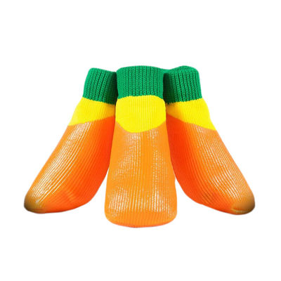 Puppy Love Neon Anti-Slip Waterproof Sock Shoes for Small Breed Dogs, small, neon orange