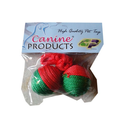 Canine 2 x 1 CatNip Ball Cat Toy, 2 inch, red & green