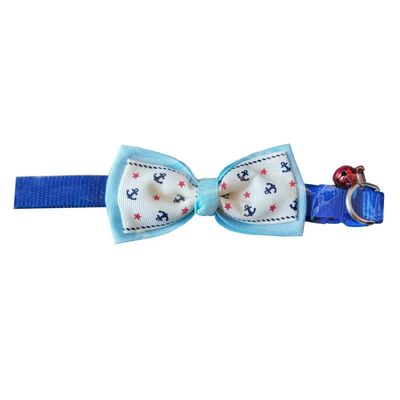 Nunbell Stylish Nylon Bow Bell Collar for Cats and Small Dogs, design 2