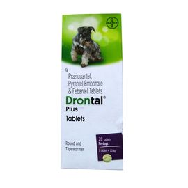 Bayer Drontal Plus Dewormer Tablets, 10 tablets