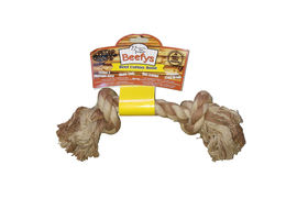 Pet Brands Beefys Beef Cotton Bone, brown
