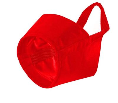 Kennel Nylon Muzzle for Medium to Large Dogs, 5, red