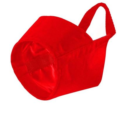 Kennel Nylon Muzzle for Medium to Large Dogs, 6, red