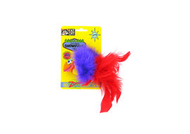 Fat Cat Fabulous Showgulls Catnip Cat and Kitten Toy, red
