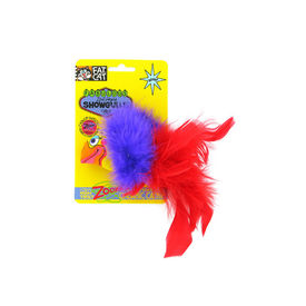 Fat Cat World-famous Fabulous Showgulls Catnip Toys for Cats and Kittens, red