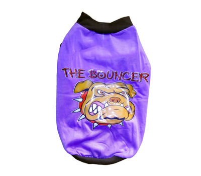 Rays Fleece Warm Tshirt for Small Dogs, 16 inch, purple bouncer