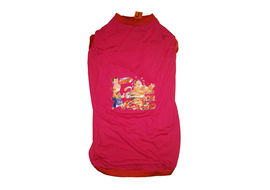 Rays Printed Chhota Bheem Tshirt for Giant Dogs, 36 inch, dark pink