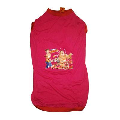 Rays Printed Chhota Bheem Tshirt for Giant Dogs, 36 inch, dark pink