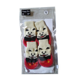 Puppy Love Anti Skid Sock Shoes for Small Breed Dogs, red, small