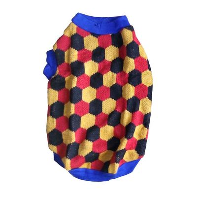 Rays Woollen Sweater for Small Dogs, 16 inch, yellow soccer