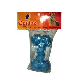 Canine Bone Shape Spiked Dog Toy, blue, small