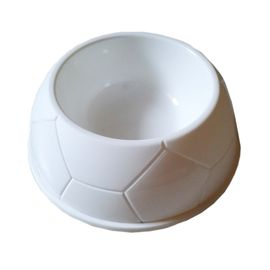 Canine Thick Plastic Medium Pet Feeding Bowl, white, 7 inch