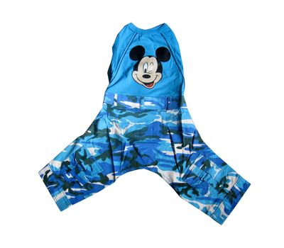Zorba Designer Corduroy Dungarees for Small Breed Dogs, blue minnie, 16 inch
