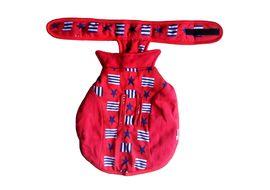 Rays Fleece Foam Warm Winter Coat for Small Dogs, red star blocks, 16 inch