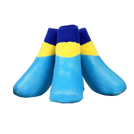 Puppy Love Neon Anti-Slip Waterproof Sock Shoes for Large Breed Dogs, neon blue, xl