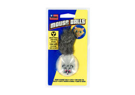 Petsport USA Mouse Balls CatNip Cat Toy, grey