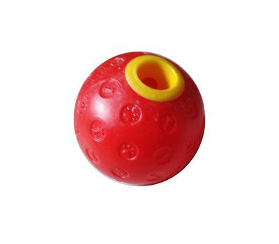 Canine Plastic Fun Treat Feeder Ball Dog Toy, 4.7 inch, red