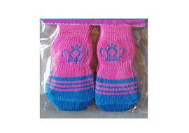 Bobo Anti Slip Socks for Toy to Small Breed Dogs, pink crown, small
