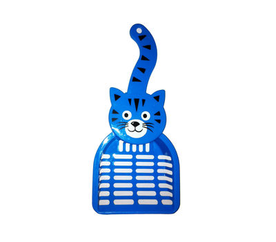Canine Cat Shaped Poop Scooper, blue