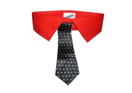 Zorba Designer Fancy Collar with Tie for Dogs, large, red