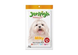 JerHigh Milky Real Chicken Meat Plus Dog Treat, pack of 1