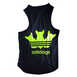 Canes Venatici Sporty Sando Sleeveless Tshirt for Dogs, 20 inch, black adidog