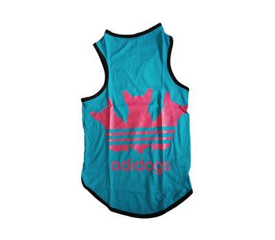 Canes Venatici Sporty Sando Sleeveless Tshirt for Dogs, blue adidog, 22 inch