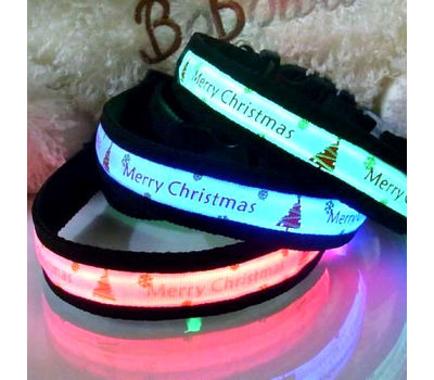 Puppy Love LED Collars for Small Dogs, small, green