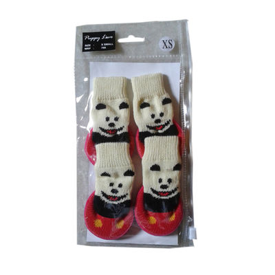 Puppy Love Anti Skid Sock Shoes for Toy Breed Dogs, red, extra small