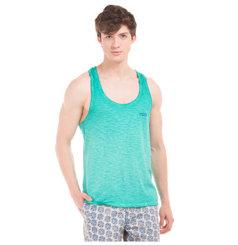 TRENT Sharp Green Slim Fit Solid Vest,  green, m