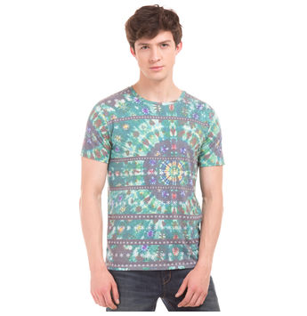 TRINITY Forest Green Regular Fit Printed T-Shirt,  green, s