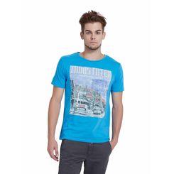 Breakbounce Thod Regular Fit Casual T-Shirt,  capri blue, xl