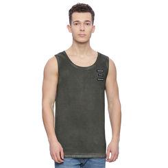Romer Ivy Green Solid Slim Fit Vest, l,  ivy green