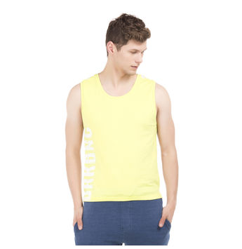 JERVIS Limade Yellow Slim Fit Solid Vest,  red, s