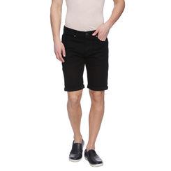 Watts Black Washed Slim Fit Shorts, 32,  black
