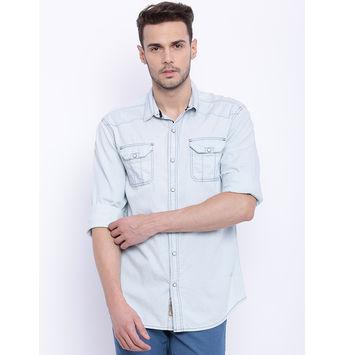 Breakbounce Brule Men's Casual Shirt, s,  lt blue