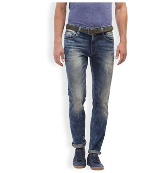 Breakbounce Tangom Indigo Slim Fit Casual Mens Denim,  indigo blue, 36