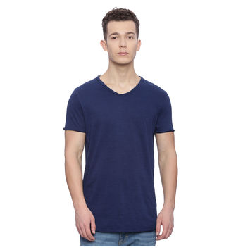 Grafton Dark Indigo Solid Regular Fit T Shirt, xxl,  dark indigo
