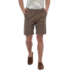 Breakbounce Dodoma Comfort Fit Solid Shorts,  khaki, 34
