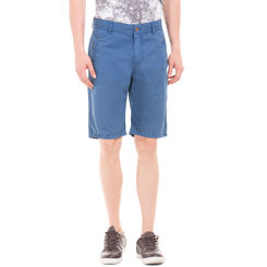 WENDELL TRUE BLUE Slim Fit Solid Shorts,  blue, 30