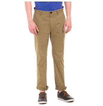 JUPITER BROWN L Slim Fit Solid Trouser,  brown, 38